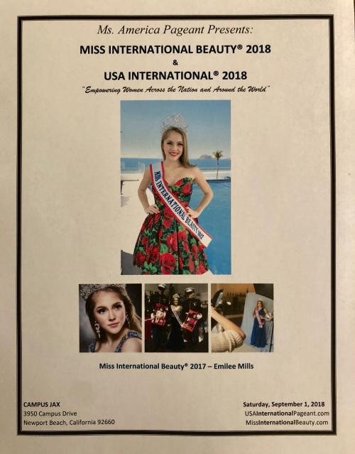 2018 Miss International Beauty and USA International Program Book
